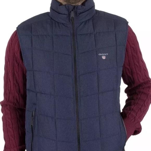 d0f80469280 Gant Jackets & Coats | Mens The Lightweight Cloud Logo Gilet Blue ...